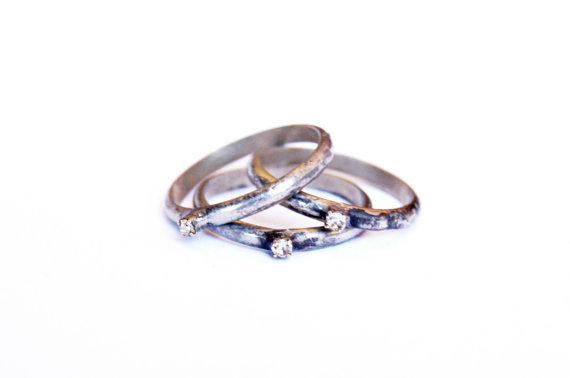 Star Dust Triple Ring Set