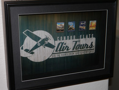 Custom Light Up Shadow Box Framed Condor Flats Air Tours Pin Set