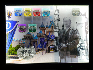 One of a Kind Disneyland 60th Anniversary Pin Display
