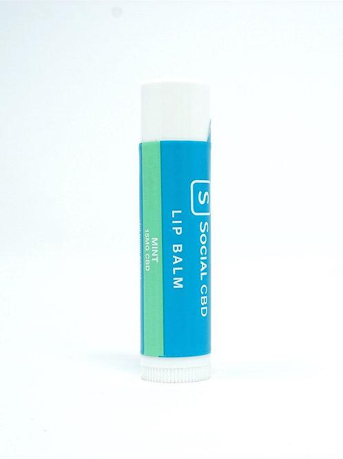 Social CBD 15mg Isolate Lip Balm Mint