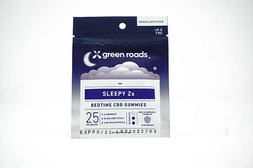 Green Roads 50mg/2ct Gummies Sleepy Zs