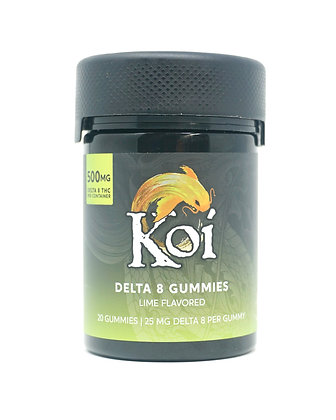Koi Delta-8 500mg Lime Gummies
