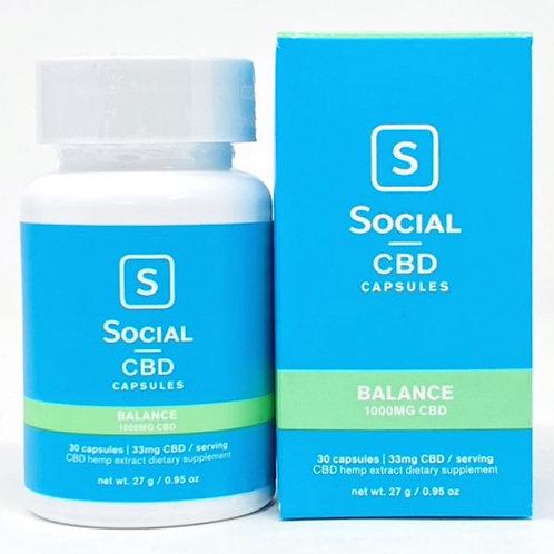 Social CBD 33mg/30ct Isolate Softgels Balance
