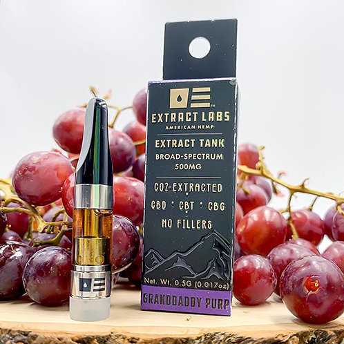 Extract Labs 500mg Full Spectrum Vape Cartridge Granddaddy Purp