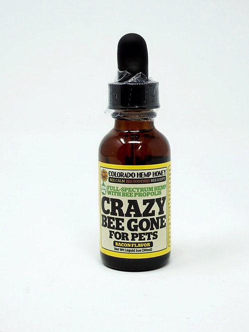 Colorado Hemp Honey Pet 500mg Full Spectrum Oil Crazy Bee Gone Bacon