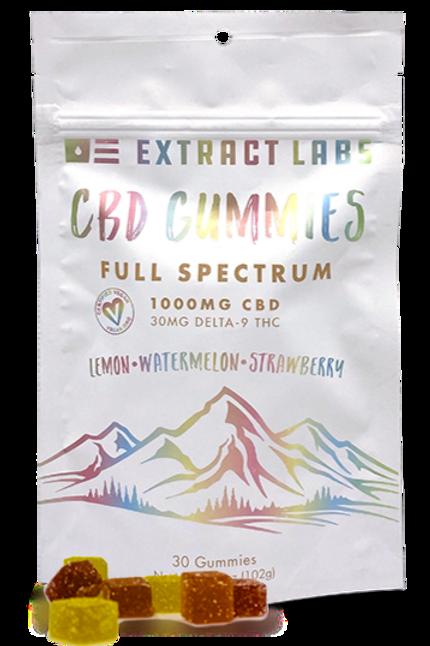 Extract labs 1000mg Full Spectrum Gummies