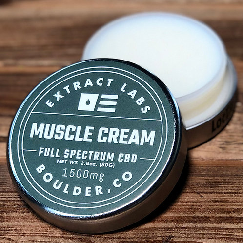 Extract Labs 1500mg/2.8oz  Full Spectrum Muscle Cream