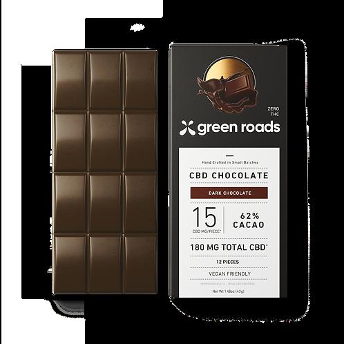 Green Roads 180mg Dark Chocolate Bar