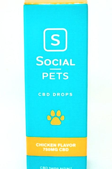 Social CBD Pet 750mg Broad Spectrum Oil Chicken