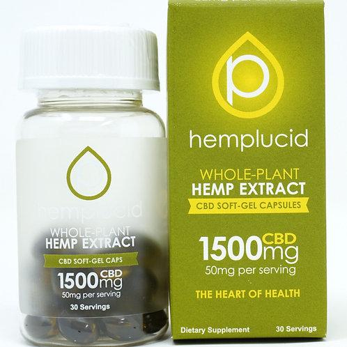 Hemplucid 1500mg/30ct Full Spectrum Capsules