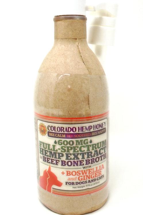 Colorado Hemp Honey Pet 600mg Full Spectrum Bone Broth Beef