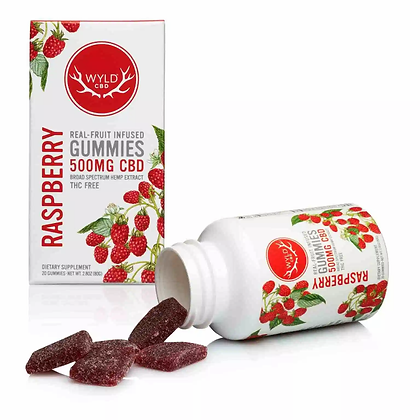 Wyld 500mg Raspberry Gummies