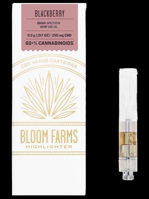 Bloom Farms 250mg Broad Spectrum Vape Cartridge Blackberry
