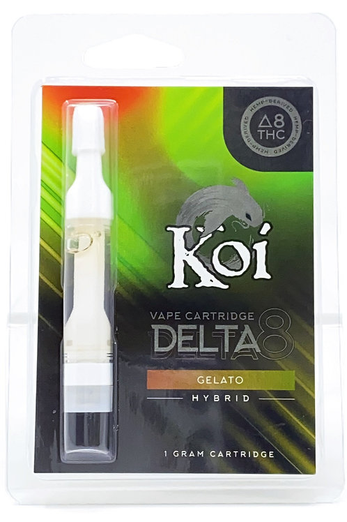 Koi 1g Delta-8 Vape Cartridge Hybrid Gelato