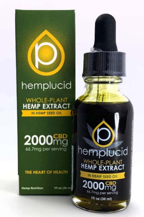 Hemplucid 2000mg Full Spectrum Oil