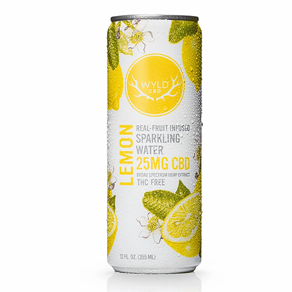 Wyld 25mg Lemon Sparkling Water