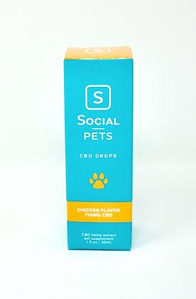 Social Pet CBD 750 mg Chicken Flavored