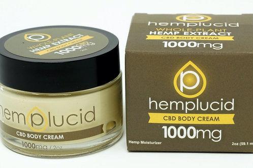 Hemplucid 1000mg Full Spectrum Body Cream