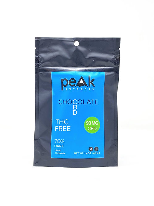 Peak Extracts 93mg Broad Spectrum Dark Chocolate