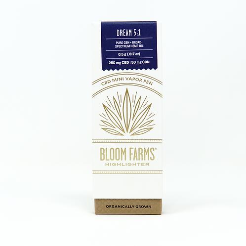 Bloom Farms 5CBD:1CBN Vape Pen Dream