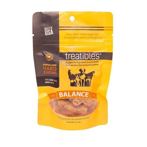 Treatibles Pet 4mg/7ct Full Spectrum Hard Chews Balance Pumpkin