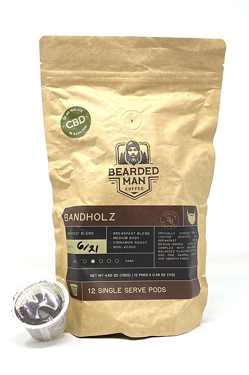 Bearded Man Coffee 20mg/12ct Isolate Bandholz Blend
