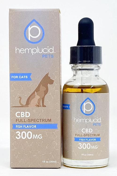 Hemplucid Pet 300mg Full Spectrum Oil Fish