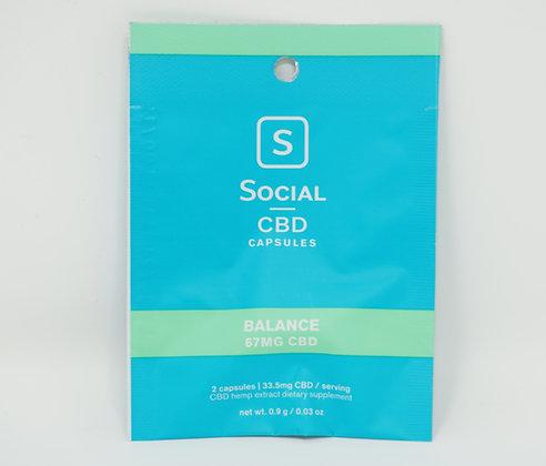 Social 67mg CBD 'Balance' 2 pack Capsules