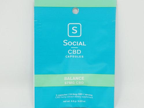 Social CBD 33mg/8ct Isolate Softgels Balance