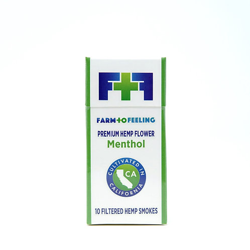 Farm to Feeling 10 count Premium Menthol Hemp Smokes