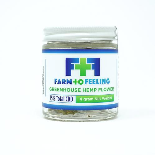 Farm to Feeling 4g Hemp Flower Greenhouse
