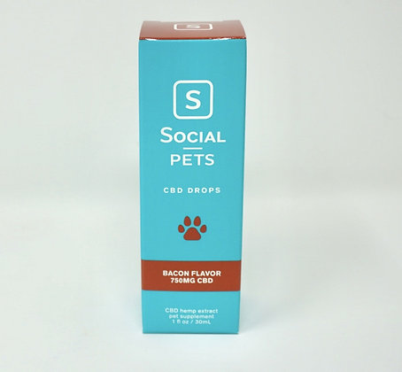 Social Pet CBD Oil 750 mg Bacon Flavored