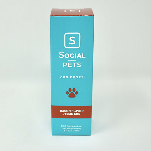 Social CBD Pet 750mg Broad Spectrum Oil Bacon