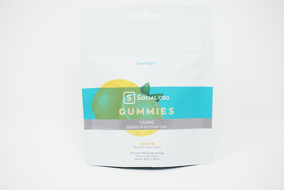 Social 125mg Lemon Gummies