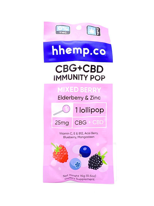 HHemp 25mg CBG:CBD Broad Spectrum Mixed Berry