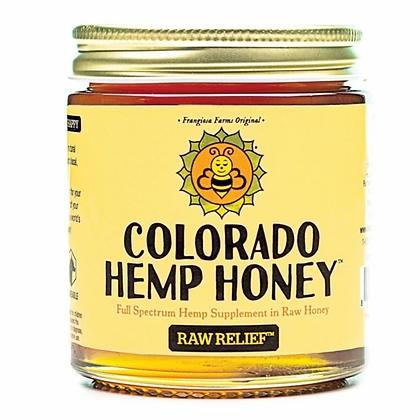 Colorado Hemp Honey 'Raw Relief' 6oz Jar- 500mg CBD