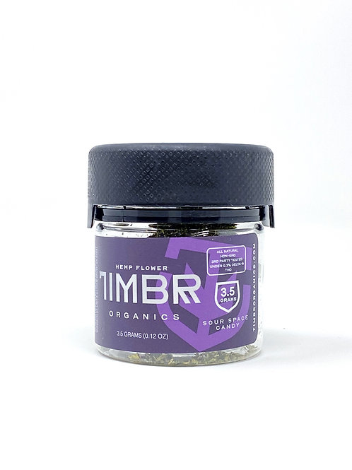 Timbr 3.5g Full Spectrum Hemp Flower Sour Space Candy