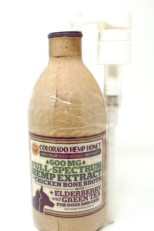 Colorado Hemp Honey Pet 600mg Full Spectrum Bone Broth Chicken