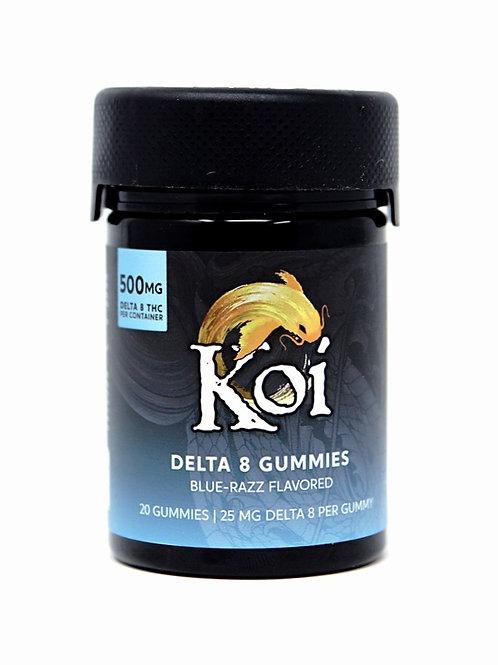 Koi 25mg/20ct Delta-8 Gummies Blue-Razz