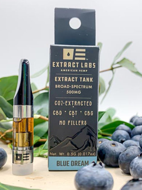 Extract Labs 500mg Full Spectrum Vape Cartridge Blue Dream