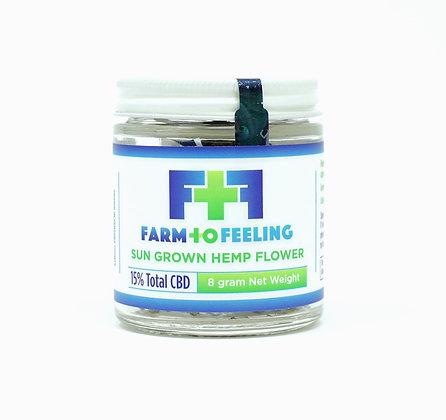 Farm to feeling 8 grams Sun-Grown Hemp Flower