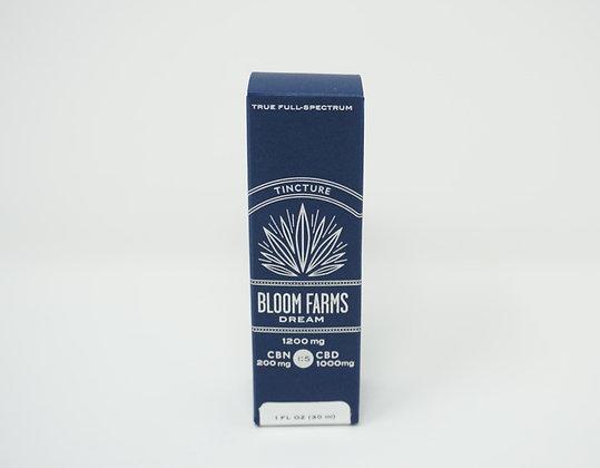 Bloom Farms 1200mg Dream 1:5 CBN/CBD Tincture Full Spectrum