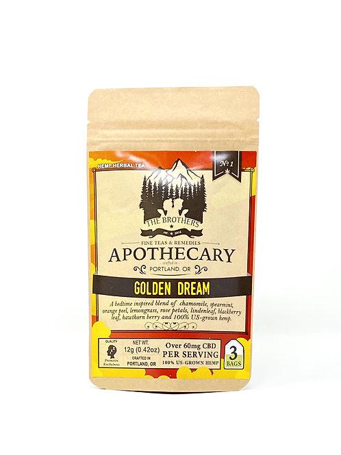 Apothecary 180mg/3ct Full Spectrum Tea Bags Golden Dream