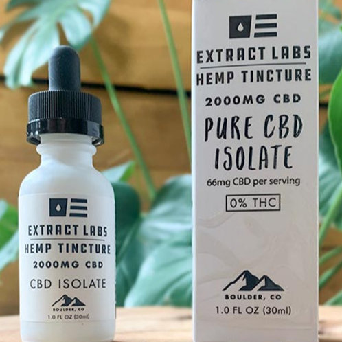 Extract Labs 2000mg CBD Isolate Oil