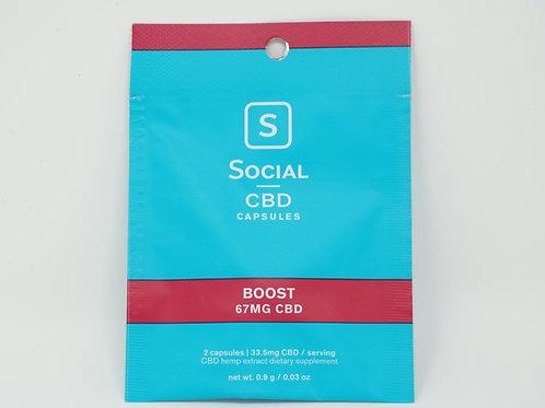 Social CBD 33mg/8ct Isolate Softgels Boost