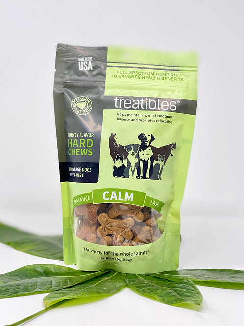 Treatibles Pet 4mg/45ct Full Spectrum Hard Chews Calm Turkey