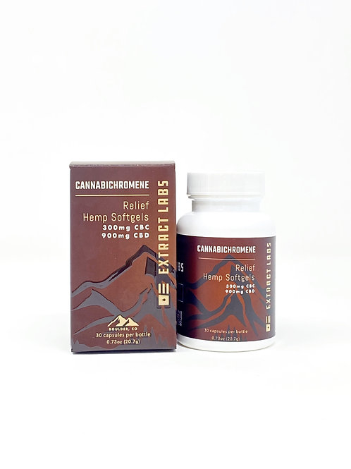 Extract Labs 1200mg/30ct 3CBD:1CBC Full Spectrum Softgels Relief