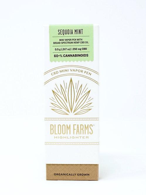 Bloom Farms 250mg Broad Spectrum Disposable Pen Sequoia Mint
