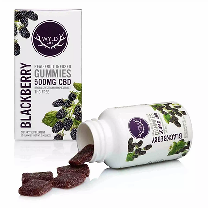 Wyld 500mg Blackberry Gummies
