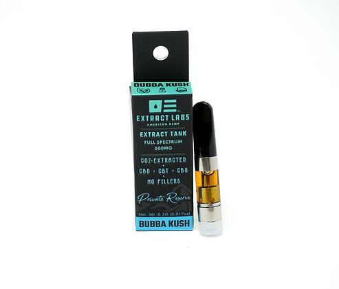 Extract Labs 'Bubba Kush' 500mg Cartridge